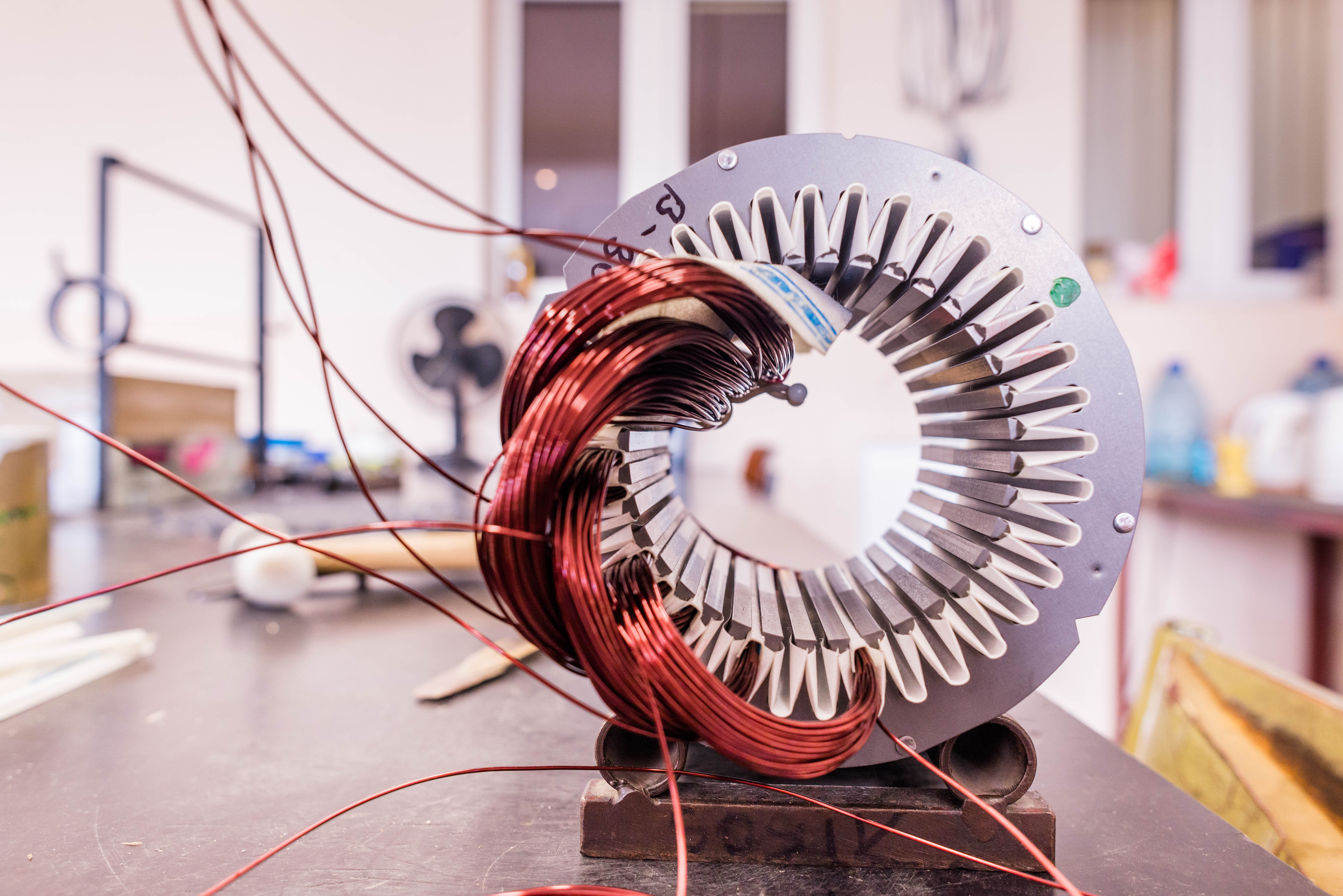 Copper wire in a motor, electric magnetic device for rotor