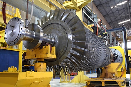 Gas Turbine Rotor at Workshop